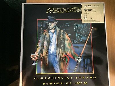 Marillion- Clutching At Straws Tour 1987/88 Programme And Ticket