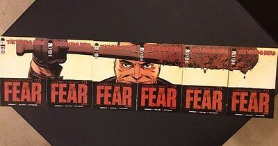 WALKING DEAD #97 - 102 Comic Book CONNECTING COVERS Lucille NEGAN Death of Glenn