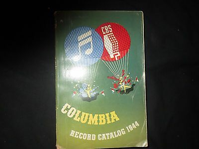 1944 Columbia Record Catalog VG 462 pages