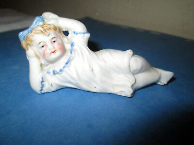 Ancienne Baigneuse Figurine Biscuit Half Doll Tee Puppee Girl