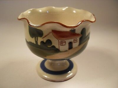 "Watcombe Torquay Pottery - Motto Ware Sugar Bowl - "" Sweeten for Yourself """