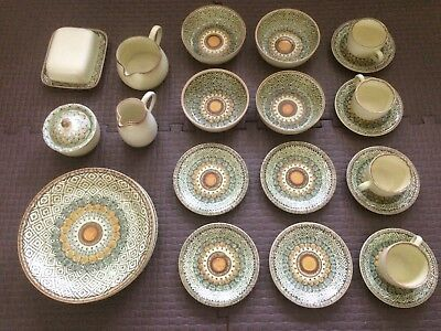 Rare SARABAND by Franciscan Interpace England - Starter Set of 4 - 27 pieces
