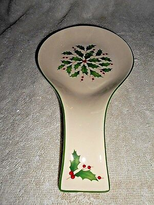 Lenox Holiday Spoon Rest CHRISTMAS KITCHEN TABLE COOKING GIFT