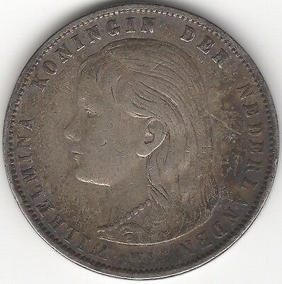 1897 Netherlands Wilhelmina I Silver Gulden***Collectors***