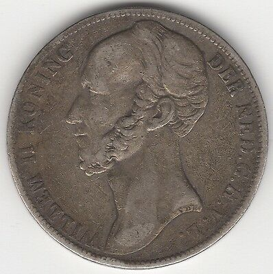 1845 Netherlands William II Silver Gulden***Collectors***