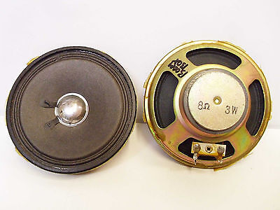 "Pair Vintage Boombox Speakers 4"" 3W 8 Ohm Cassette Player Audio part"