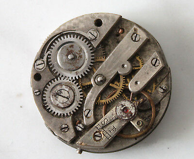 vintage watch movement manual wind 26 mm ceramic dial parts/spares
