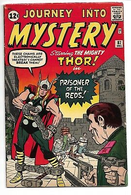 Journey into Mystery #87 (Dec 1962, Marvel) THOR Rare Early Appearance Key Issue