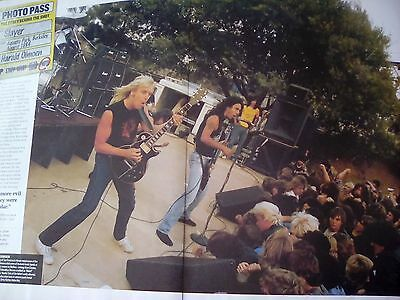 Slayer Live 1984 Story of the Shot Article from Magazine Poster to Frame?