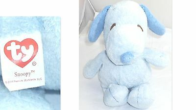 "1991 Ty Snoopy The Peanuts Gang Dog Blue Baby Plush Soft Stuffed 18"" Tall"