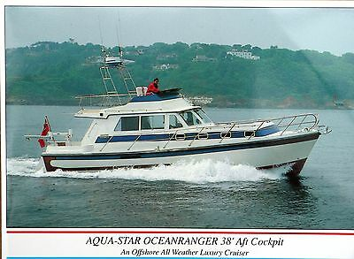 Aqua-Star Oceanranger 38 Aft Cockpit motorboat original brochure late 1990s