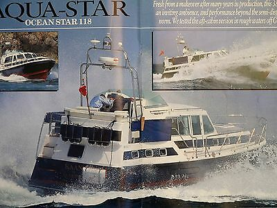 Aqua-Star Aquastar Ocean-Star 118 boat test reprint and specifications 1998