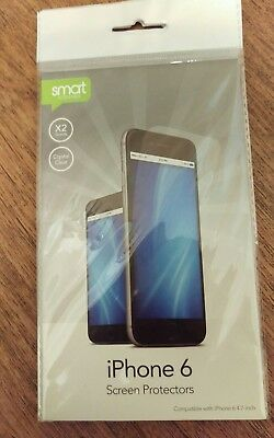 2 pack iphone 6 screen protectors with dust cloth