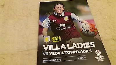 Aston Villa Ladies v Yeovil Ladies 2016