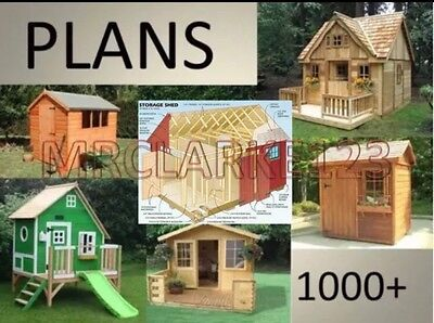 DIY Shed, Log Cabin, Playhouse, Wendy, Summer House. 1000s of Projects + Plans,