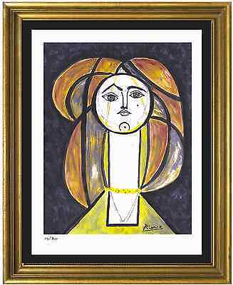 "Pablo Picasso Signed/Hand-Numbered Ltd Ed ""Woman Yellow Collar"" Print (unframed)"