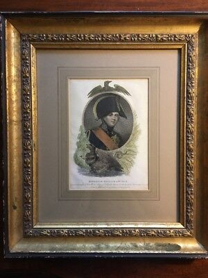 Framed Line And Stipple Engraving Pub. 1808 Alexander Emperor Of Russia
