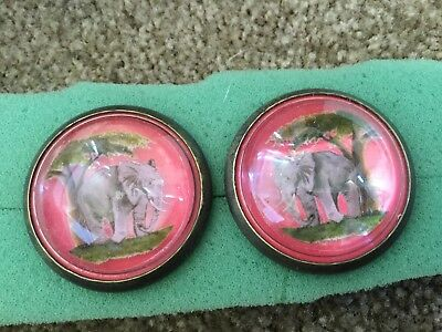Horse bridle rosette / button---Elephant