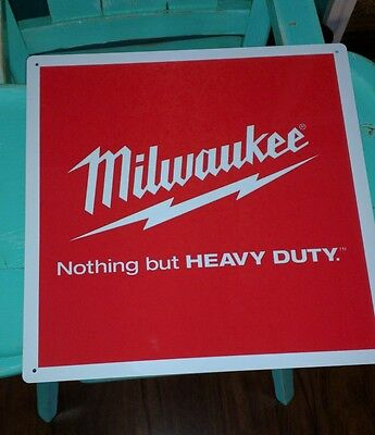 Milwaukee heavy duty advertising metal sign vintage advertisement display 50006