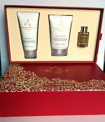 Aromatherapy Associates Skin&Body Ritual Set Enzyme Peel Repair Mask, Deep Relax