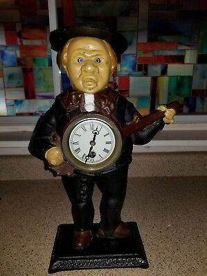 """Sambo Banjo Player"" Antique Collectable Blinking Eye Clock"