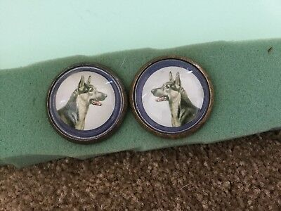 Bridle rosette / button----German Shepard