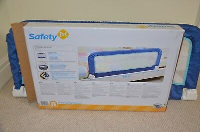 Safety 1st Portable Bed Rail Prevents Kids Toddler Falling out of the Bed - Blue