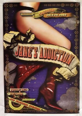 Janes Addiction, July 20th, 2002, Warfield Theatre, Concert Poster
