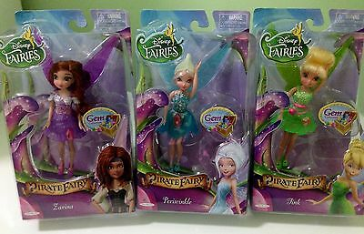 "Disney Fairies ""Pirate Fairy"" Gem Collection...Periwinkle..Zarina...Tink 3 Dolls"