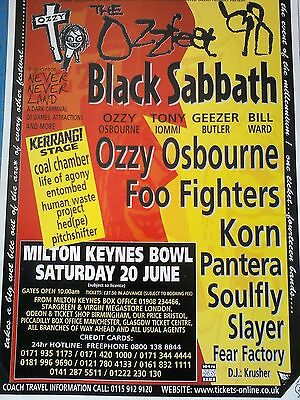 Ozzfest 1998 Black Sabbath FF Korn Pantera Slayer Never Land MK Monsters Rock