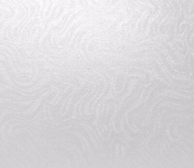 10 x A4 Card Frost White Pearlised Brocade Embossed Design Textured Card Quality