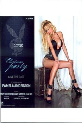 Pam Anderson - In The Black One-Piece Doing An Ad For A Playboy Party !!!