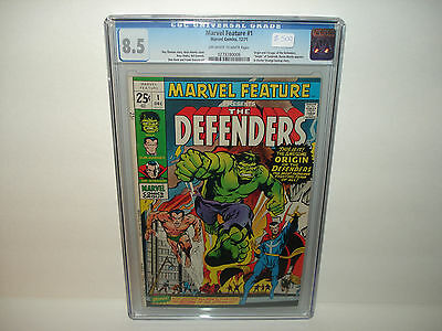 Marvel Feature #1 (Dec 1971,Marvel) CGC 8.5  Origin & First Appearance Defenders