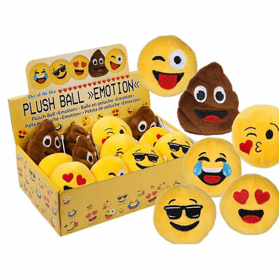 Anti Stress Plüschball Plüschtier Plüsch Ball Emoji Emoticon Smily Smiley