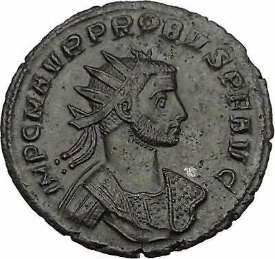 PROBUS with aegis receiving globe from Jupiter 276AD Ancient Roman Coin i52085