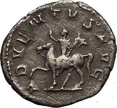 TRAJAN DECIUS on horse 249AD Silver Authentic Ancient  Roman Coin i52317