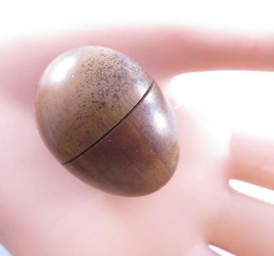 Victorian Wooden Egg Shaped Thimble Case Holder