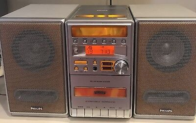 philips mc 128 micro system cd player cassette radio with. Black Bedroom Furniture Sets. Home Design Ideas