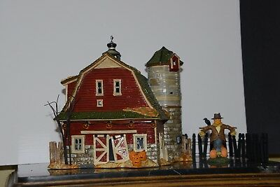 Dept 56 Halloween Haunted Barn Village Gift Set - Ltd Edition 2001 - RETIRED