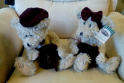 Vintage Bellagio Hotel, Las Vegas - Pair of Bears 1998 - Rare HTF