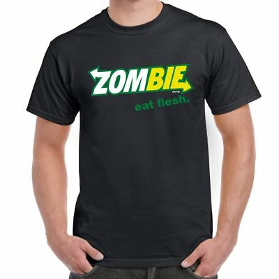 Zombie Eat Flesh Subway walking dead inspired Mens Funny printed t shirts  gift