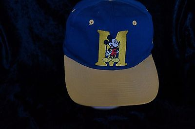 Mickey Mouse Hat- Navy Yellow- Snapback- Mickey Unlimited