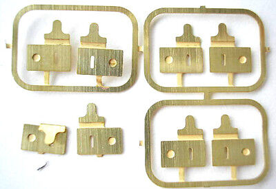 1/12th scale 4 pair BRASS LOCKS dolls house luggage suitcase trunk findings L HB