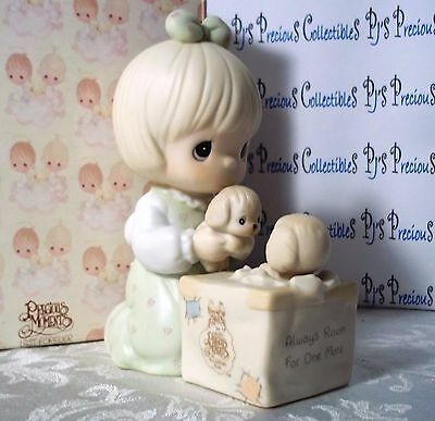 "Precious Moments ""Always Room For One More"" Box of Puppies C-0009 Orig Box V=$50"