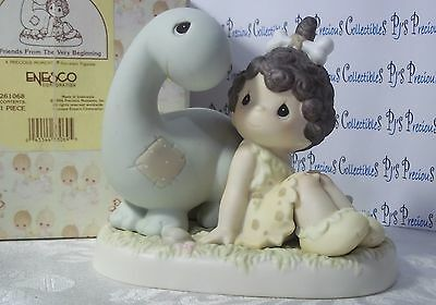 "Precious Moments ""Friends From The Very Beginning"" Dinosaur 261068 V=$75"