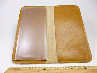 Bay State Exclusive Goldenrod Genuine Leather Standard Checkbook Cover-USA Made