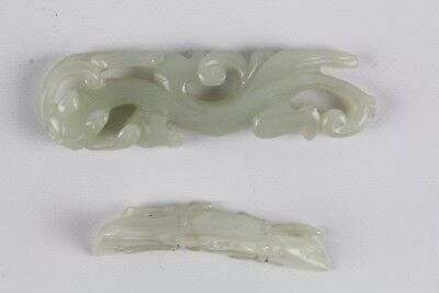 Lot Of Two Antique Chinese Jade Carvings