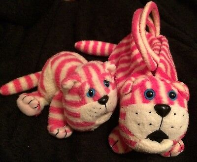 "Bagpuss Bag 12"" Velcro fastening & Small Bagpuss Toy 1999"
