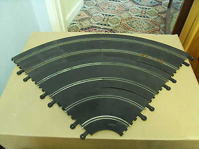 6x Lane Classic Scalextric Racing Curve Set.