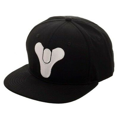 Official Bungie - Destiny Symbol Embroidered Black Snapback Cap (New)